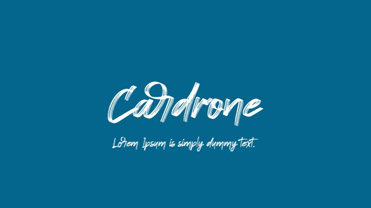 Cardrone Font