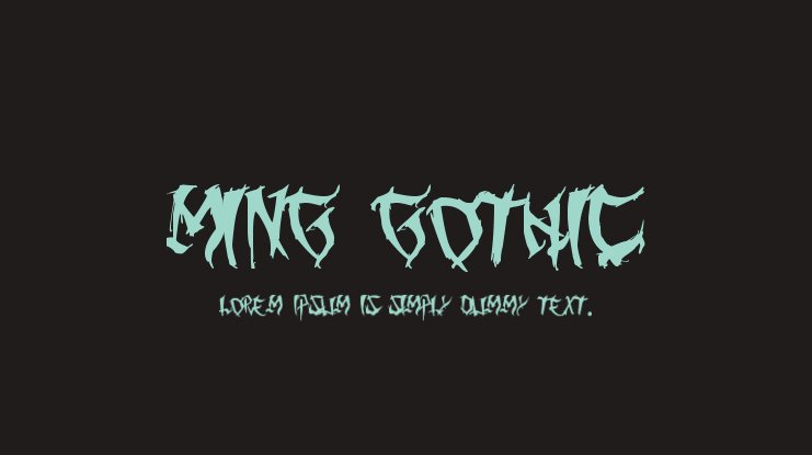 Ming Gothic Font