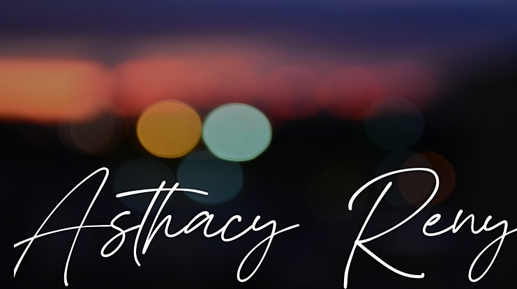 Asthacy Reny Font