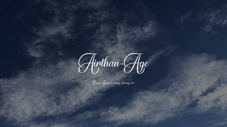 Airthan-Age Font Family
