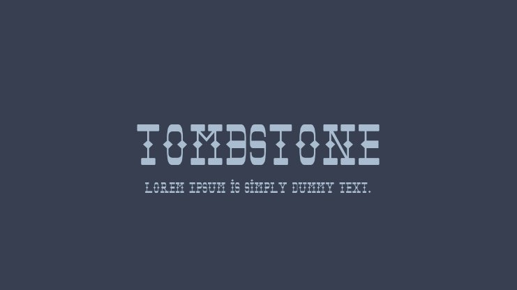 Tombstone Font