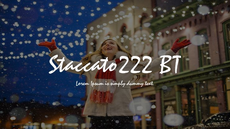 Staccato222 BT Font