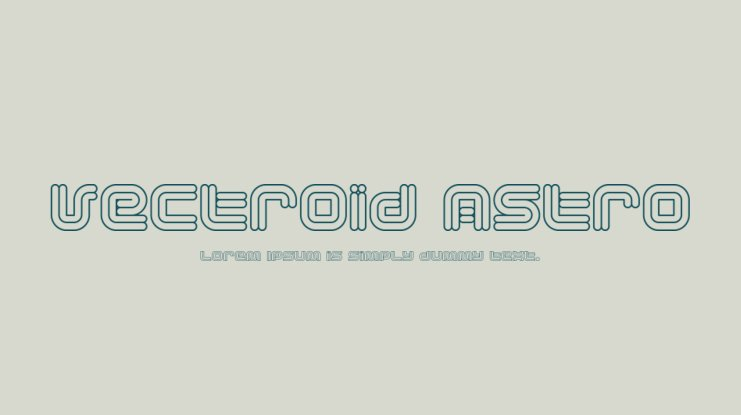 Vectroid Astro Font