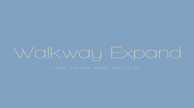 Walkway Expand Font