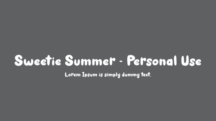 Sweetie Summer - Personal Use Font Family