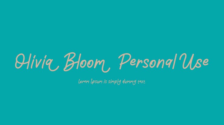 Olivia Bloom Personal Use Font