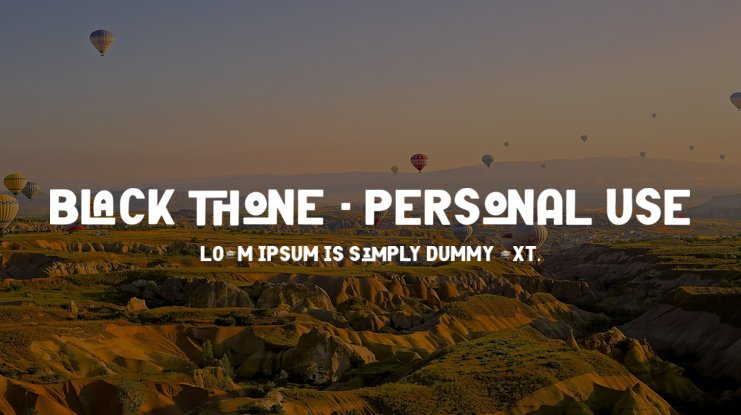 Black Thone - Personal Use Font