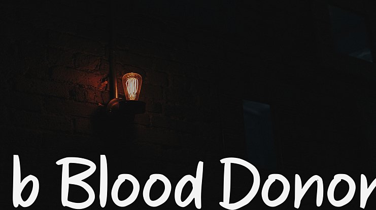 b Blood Donor Font