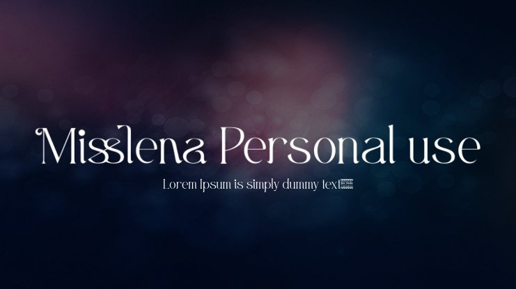 Misslena Personal use Font