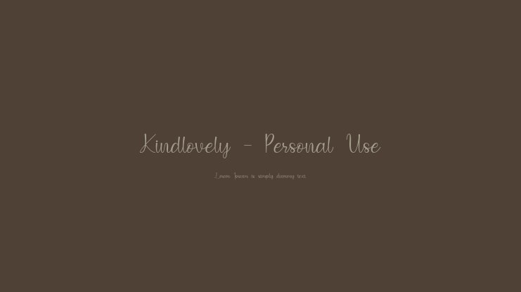 Kindlovely - Personal Use Font