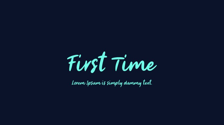 First Time Font Family