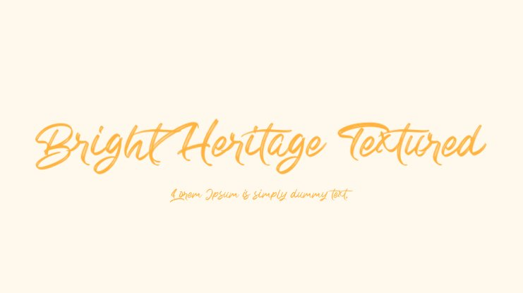 Bright Heritage Textured Font