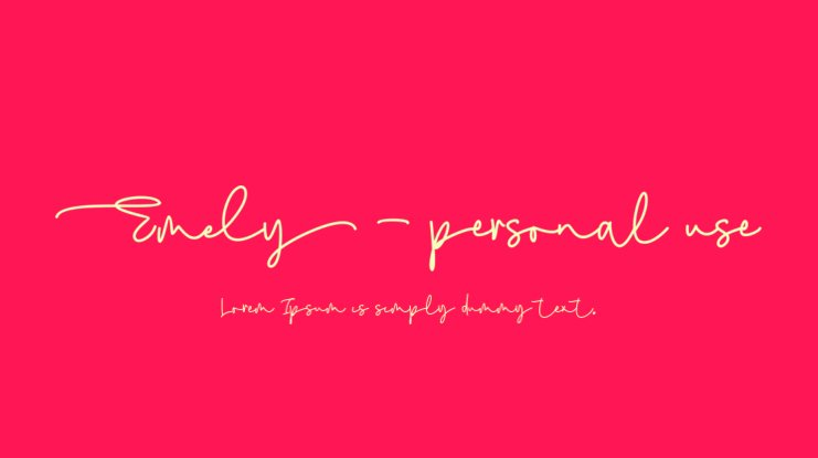Emely - personal use Font