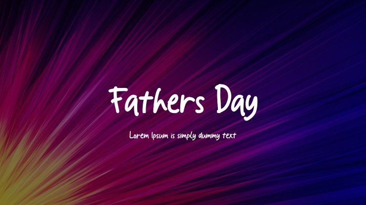 Fathers Day Font
