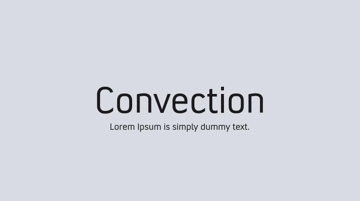 Convection Font Family