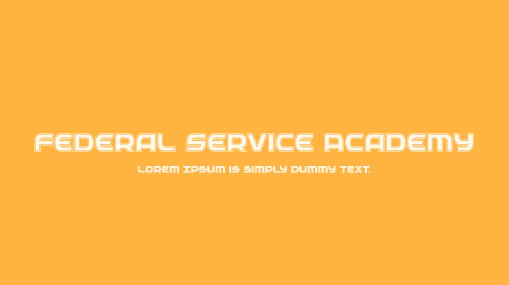 Federal Service Academy Font Family