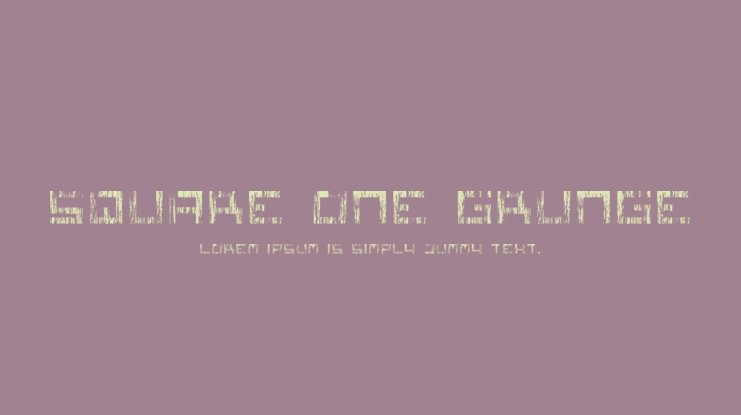 Square One Grunge Font