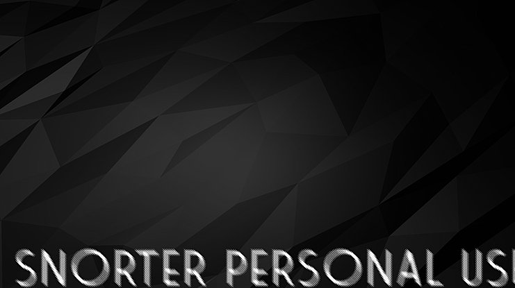 SNORTER PERSONAL USE Font