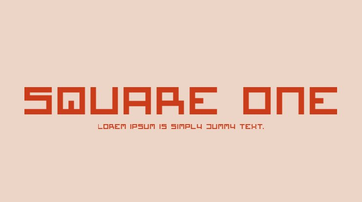 Square One Font