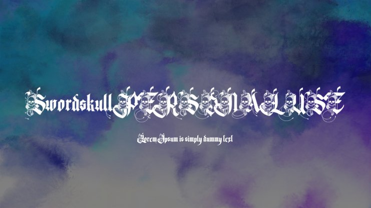 Swordskull PERSONAL USE Font