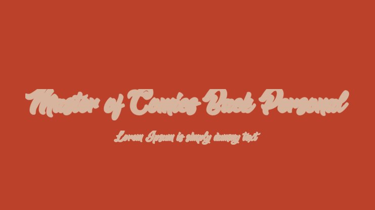 Master of Comics Back Personal Font Family