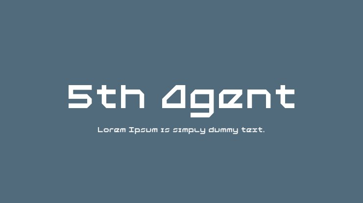 5th Agent Font Family