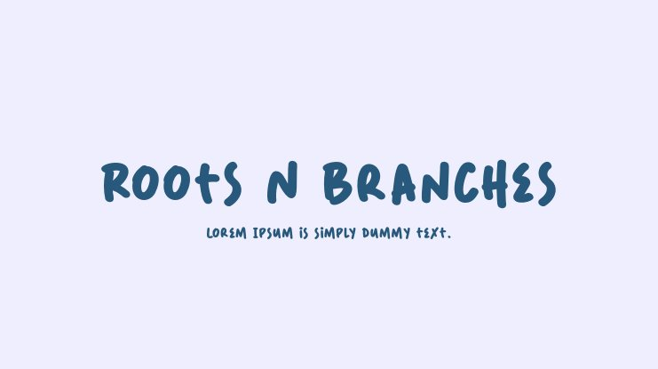 Roots N Branches Font