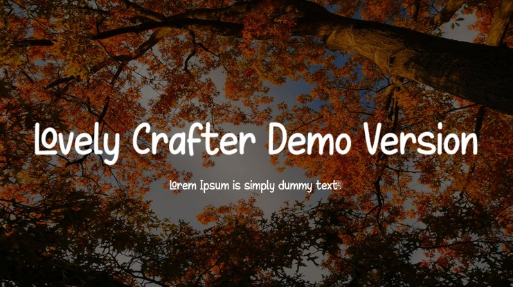 Lovely Crafter Demo Version Font