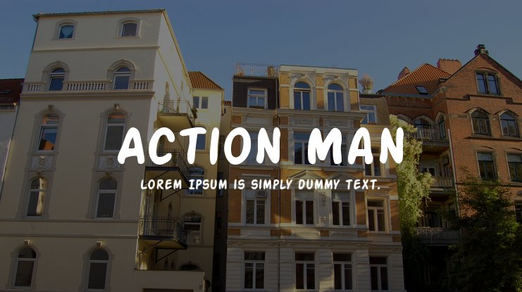 Action Man Font Family