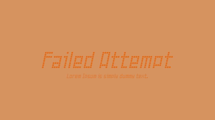 Failed Attempt Font