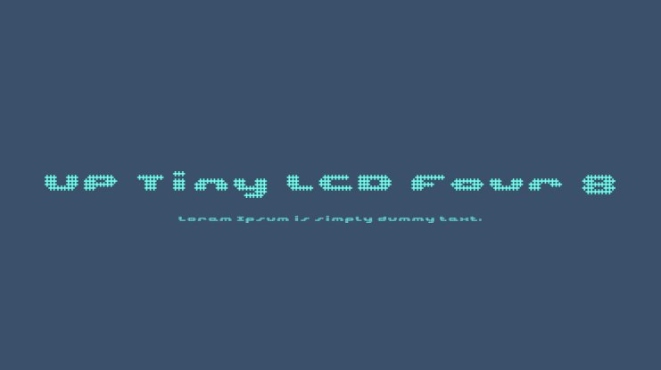UP Tiny LCD Four 8 Font Family