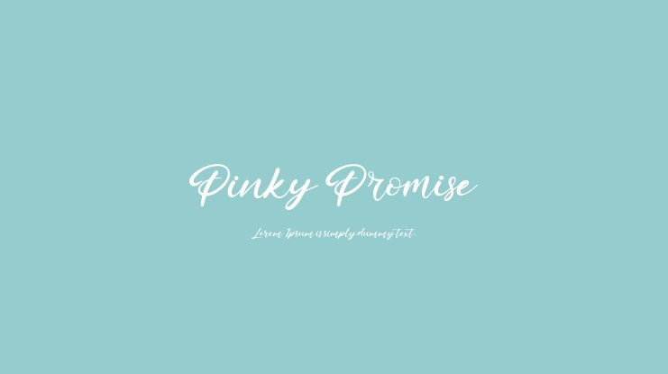 Pinky Promise Font