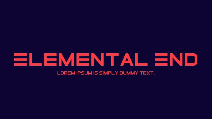 Elemental End Font Family
