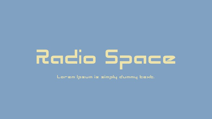 Radio Space Font Family