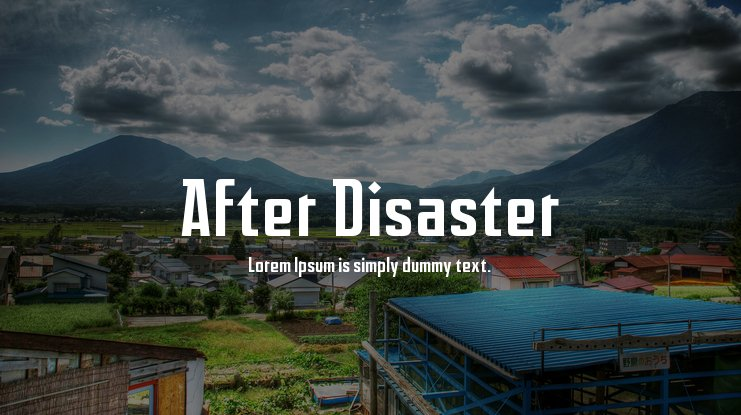 After Disaster Font Family