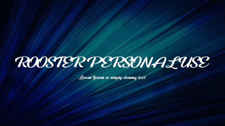 ROOSTER PERSONAL USE Font