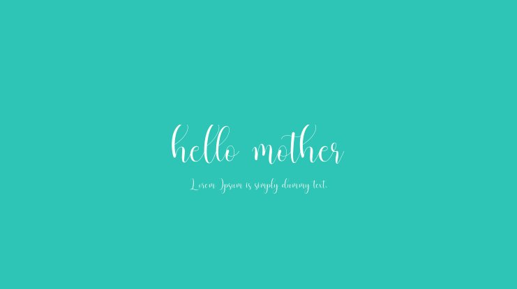 hello mother Font