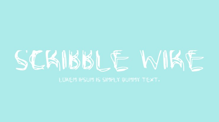 Scribble Wire Font