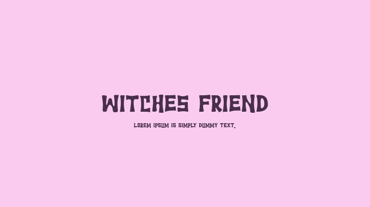 Witches Friend Font Family