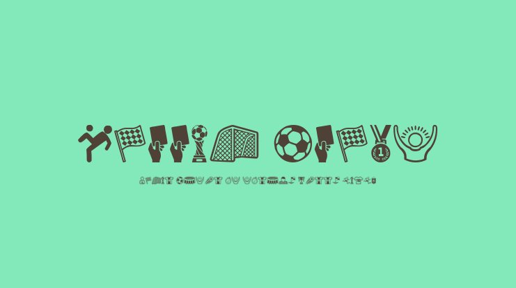 Soccer Icons Font