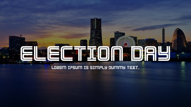 Election Day Font Family