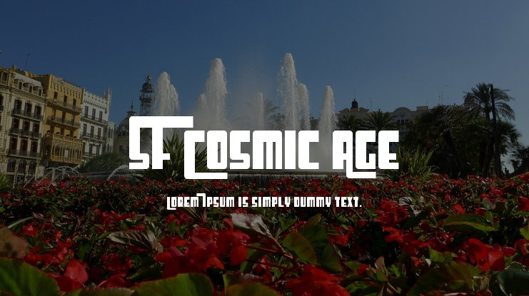 SF Cosmic Age Font Family