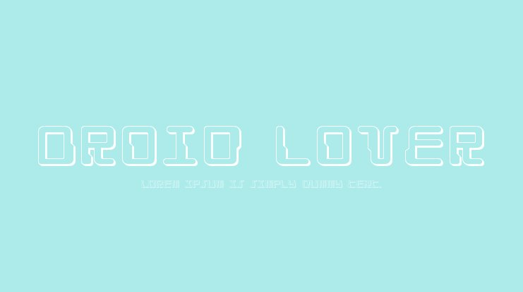 Droid Lover Font Family