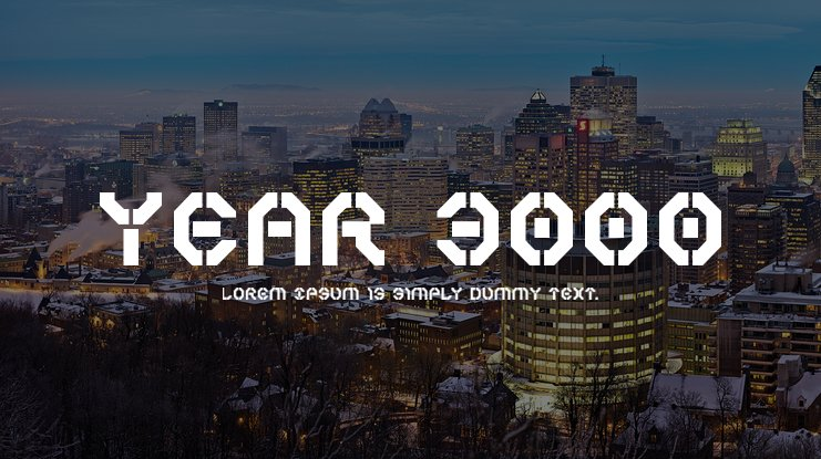 Year 3000 Font Family