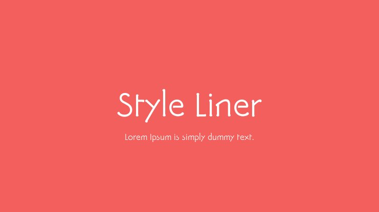 Style Liner Font Family