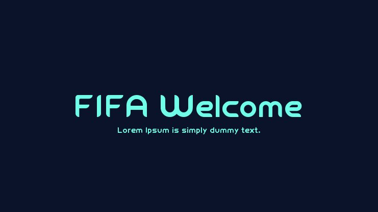FIFA Welcome Font