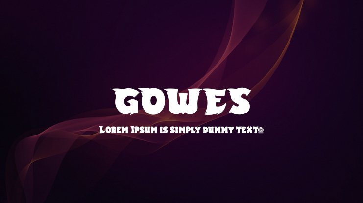 GOWES Font Family