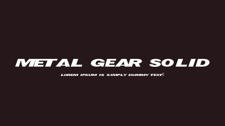 Metal Gear Solid Font Family