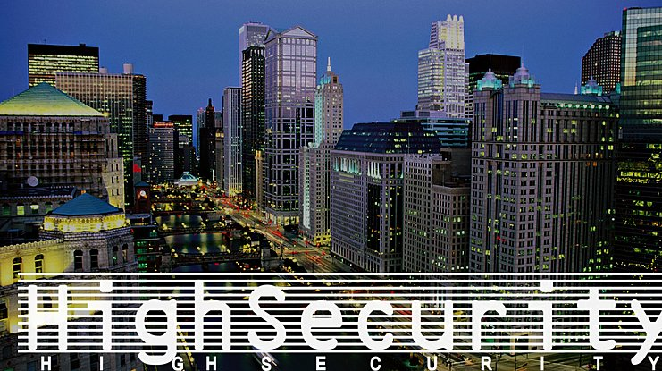High Security Font