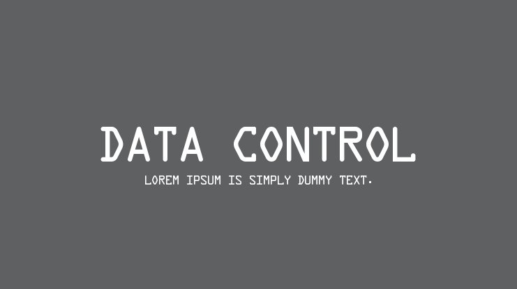 Data Control Font Family